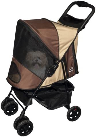Pet Gear Happy Trails Plus Pet Stroller with Weather Guard for cats and dogs up to 30-pounds