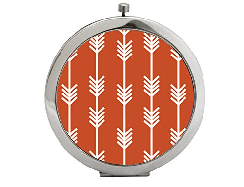 Snaptotes Trendy Boho Rust Arrow Design Compact Mirror (Rust Arrow)