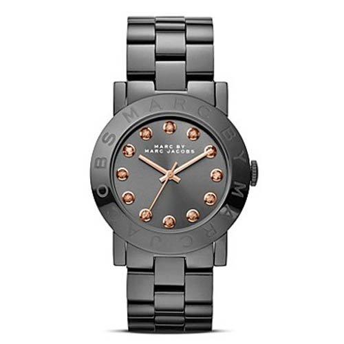 Marc Jacobs MBM8596 Women's Gunmetal Grey Stainless Steel Bracelet Crystal Markers Watch