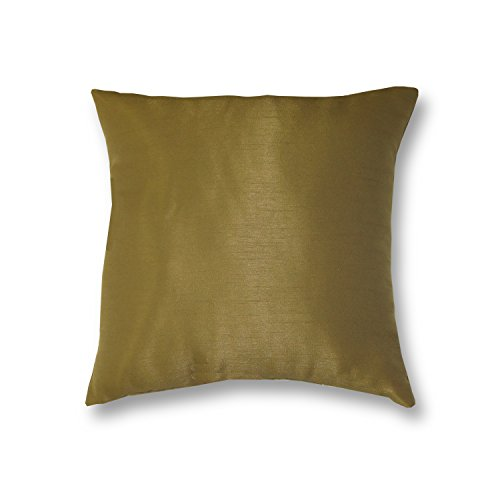 Elrene Home Fashions 026865880175 Decorative Solid Regal Couch/Sofa/Bed Cushion Pillow, 18'' x 18'', Antique Gold by Elrene