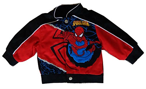 [MTC Marketing Unisex Infant/Toddler Marvel Spiderman Spidey Sense Youth Jacket (Black/Red, 12] (Baby Girl Marvel Costumes)