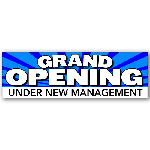 Grand Opening Under New Management Vinyl Banner 8 Feet Wide by 2.5 Feet ()
