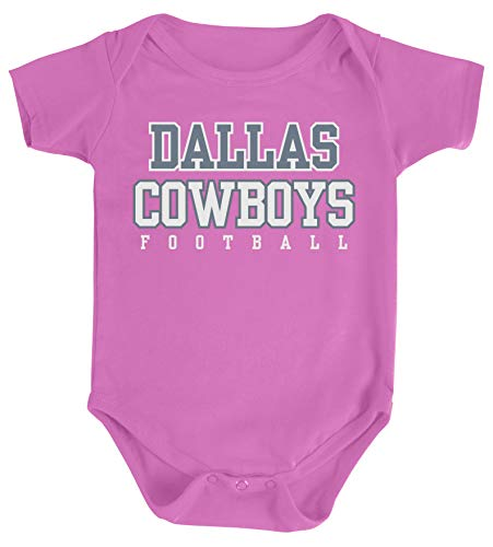 Baby Girl Dallas Cowboys (NFL Dallas Cowboys Infant Practice Logo Onesie, Pink,)