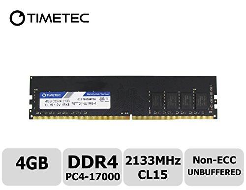 Timetec Hynix IC 4GB DDR4 2133MHz PC4-17000 Non ECC Unbuffered 1.2V CL15 1R8 Single Rank 288 Pin UDIMM Desktop PC Computer Memory Ram Module Upgrade (4GB) - Desktop Module