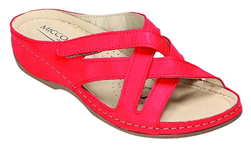 Miccos Zuecos Rojo Para Mujer Miccos Zuecos Para 00rSw