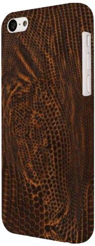 EMPIRE KLIX Slim-Fit Dur Case Étui Coque for Apple iPhone 5C - Brown Leather Cuir Croc (Films de pro