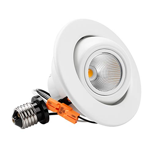 TORCHSTAR High CRI90+ 4 inch Dimmable Gimbal Recessed LED Downlight, 10W (75W Equiv.), Energy Star, 2700K Warm White, 750lm, Adjustable LED Retrofit Lighting Fixture, 3 Years Warranty ()