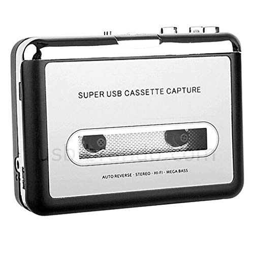Loria Portable Tape To PC Super USB Cassette-To-MP3 Converter Capture Music Player