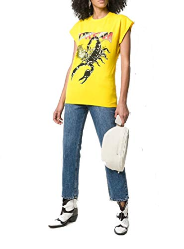 2642mdm26519529806 shirt T Msgm Cotone Donna Giallo 4ZPHn1