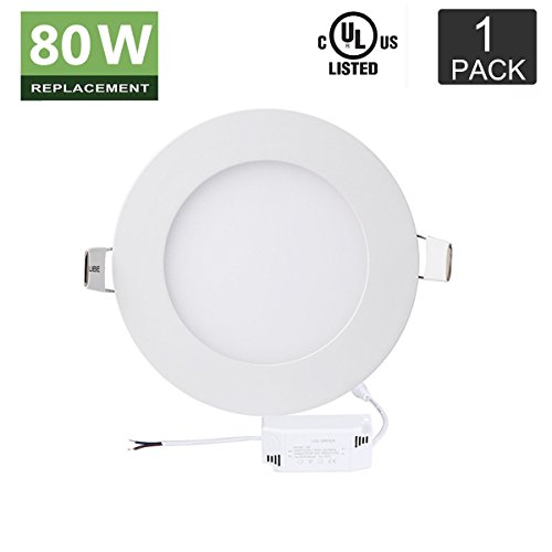 [Bro. Light 12W Round LED Panel Light Lamp, 80 Watt Equivalent,860 Lumens,6000K Cool White Downlight,Cut Hole 6.7 Inch,Non-Dimmable,Ultra-thin Recessed Ceiling Light with 110V/120V LED Driver] (Bro Kitchen)