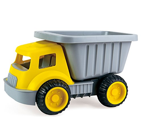 (Hape Load & Tote Dump Truck Indoor/Outdoor Beach Sand Toy Toys, Yellow)