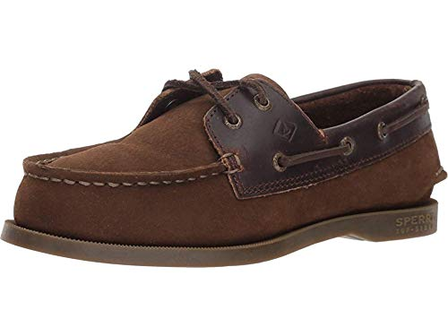 (SPERRY Boys' Authentic Original Boat Shoe, Brown Buck, 10 Medium US Toddler)