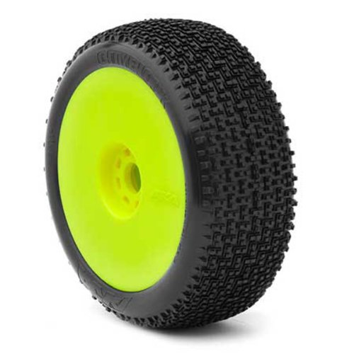 AKA Products 14002VRY Racing Buggy City Block Super Soft Evo Wheel Pre-Mounted Yellow Tire, Scale (City Block Tires)
