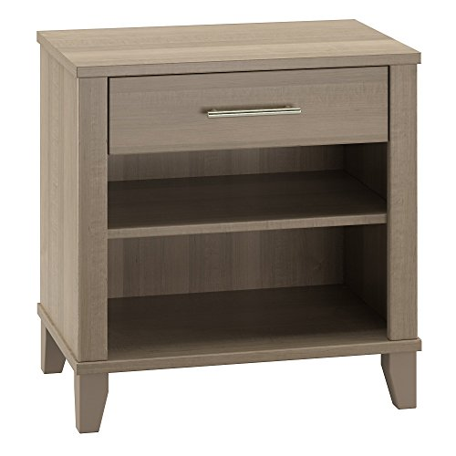 Bush Furniture Somerset Nightstand in Ash Gray (Bedroom Furniture Somerset)