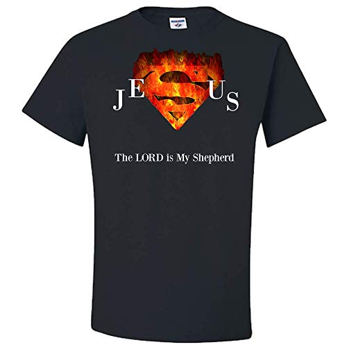 Jesus The Lord is My Shepherd Superman Adult Unisex T-Shirt - Makes A Great Gift! ⦠-
