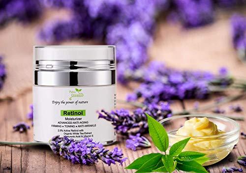 41EmVXge0YL - Retinol Moisturizer for Face and Eye Area - Wrinkle Cream for Women - Retinol Night Cream with Retinol, Hyaluronic Acid, Shea butter and Vitamin E - 1.7oz / 50m