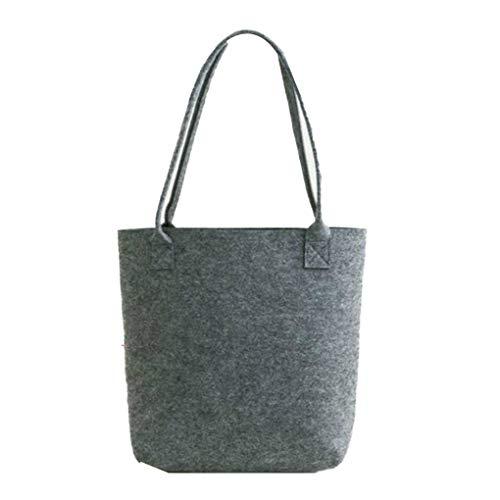 Unisex Men Women Portable Felt Fashion Handbag Tote Casual Large Capacity Storage Organizer Shopping Shoulder Bag