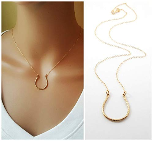 Horseshoe Charm 14k Gold Fill Necklace