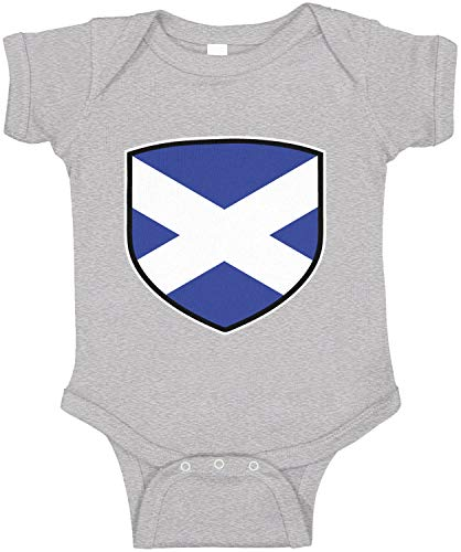 Amdesco Scotland Shield Scottish Flag Infant Bodysuit, Heather Grey 18 Month