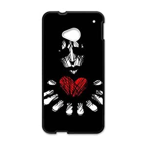 Scary ghost red heart personalized creative custom protective phone case for HTC M7