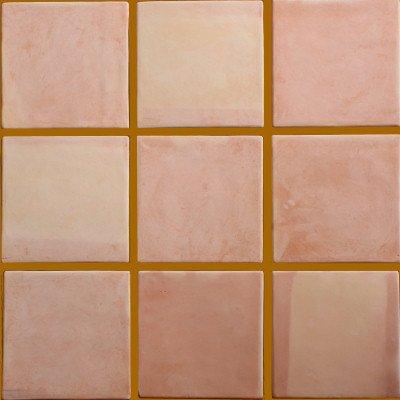 - Fine Crafts Imports 5 pcs Mexican Handmade Clay Super Saltillo Floor Tile
