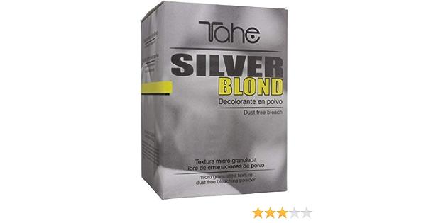 Tahe Silver Blond Decolorante en Polvo de Rápido Aclarado hasta 6 Tonos para Todo Tipo de Cabellos, 500 g