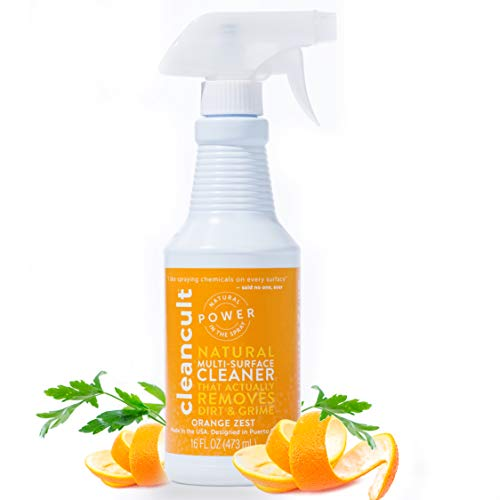 Natural All Purpose Cleaner That Actually Cleans! - Orange Zest Scent, Liquid Spray Cleaner, Safe for Kids and Pets, Safe for Skin, Great For All Households, Effective, 16 oz - ()