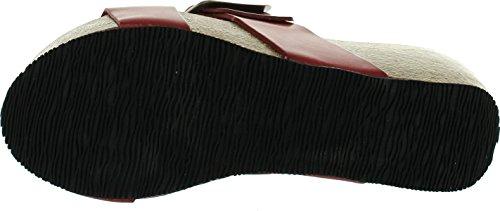 Eric Michael Kvinna Izzy Dubbla Band Mode Sandaler Rött