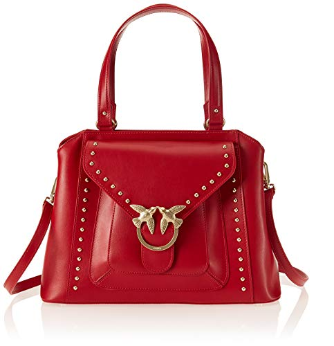 Top Rosso Pinko Sacs Handle Jolly Rouge Vitello portés Avossa main Seta 5zwqH14R