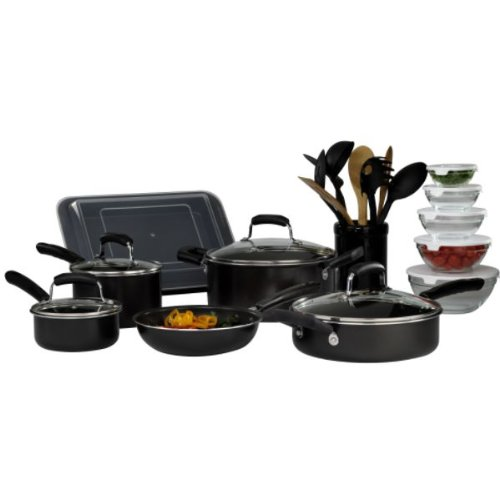 Basic Essentials 25 pc Aluminum Mega Cookware Set