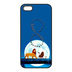 Lion King Forest Cartoon Black iPhone 5S case