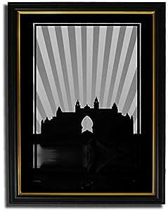 Atlantis - Black And White No Text F08-nm (a1) - Framed