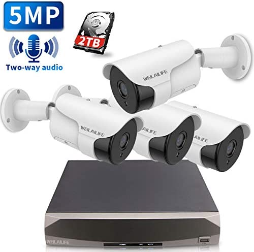 8CH 2TB PoE Security Camera System