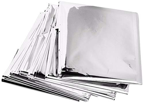 10 Pack Emergency Solar Blanket Survival Safety Insulating Mylar Thermal Heat by Unknown