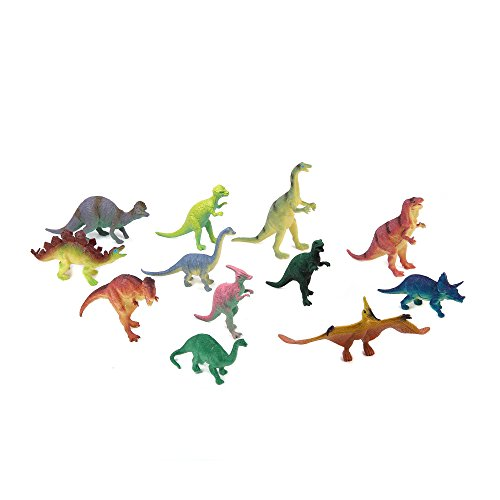 Price comparison product image Fun Central Jumbo Dinosaur Toys, Assorted Styles, 12 Count