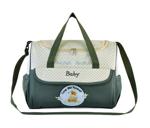 Tonwhar Fashion bolso para pañales Mummy Bolso para pañales bolsa - verde