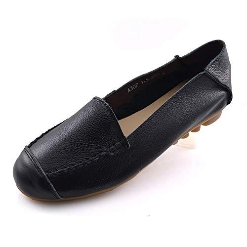 Zapatos Embarazada de Planos Fondo Zapatos Suave Trabajo FLYRCX Oficina Zapatos Zapatos Cuero de de C de Casual Mujer Solo de de señoras Confort O1cxHcw5q
