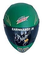 Dale Earnhardt Jr Mtn Dew (Dewshine) Signed Full Size Helmet Z08025 - JSA Certified - Autographed NASCAR Helmets by Sports Memorabilia
