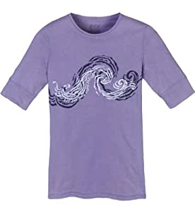 Life is good Women's Good Vibes 3/4 Sleeve Tee,Violet,X-Small