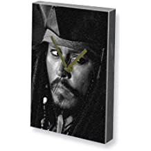 JOHNNY DEPP - Canvas Clock (A5 - Signed by the Artist) #js003