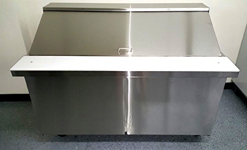 Door Commercial Refrigerated Stainless Steel Mega Top Salad - Sandwich prep table cooler