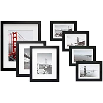 Amazon.com: Frametory, 7 Piece Gallery Wall Set with Golden Gate ...
