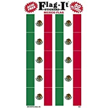 Mexico flag stickers for home or school