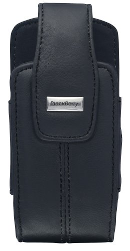 BlackBerry Lambskin Leather Swivel Holster for BlackBerry 8100, 8110, 8120, 8130 (Pitch Black)