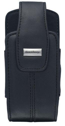 Blackberry Holster Proximity Sensor - BlackBerry Lambskin Leather Swivel Holster for BlackBerry 8100, 8110, 8120, 8130 (Pitch Black)