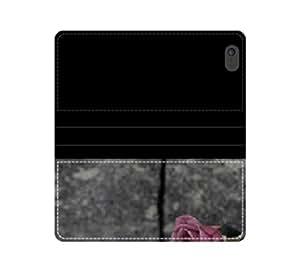 Rose en la pared funda con tapa y ranuras para tarjetas y compartimento para billetes iPhone 4 4S 5 5S 6 6S/Samsung S3 S4 S5