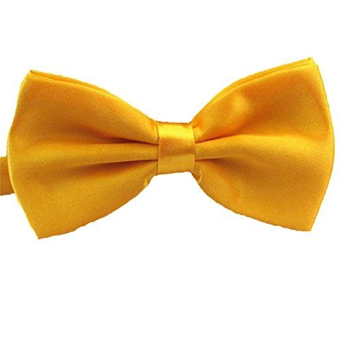 2016 Male Fashion Bow Tie For Wedding Party Mens Toddler Youth Boys Women Dog Gold Yellow, One Size