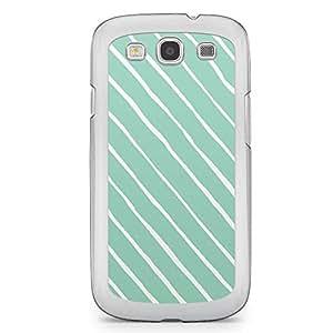 Confetti Samsung Galaxy S3 Transparent Edge Case - Green and White