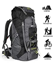 outlife Hiking Backpack, 60L Large Rucksack for Men Women, Tear and Water-resistant Ideal for Camping Trekking Travel Outdoor