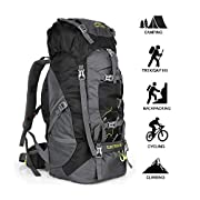 NACATIN Hiking Backpack, 60L Large Rucksack for Men Women, Tear and Water-resistant Ideal for Camping Trekking Travel…